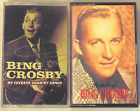 2 Bing Crosby Cassette Tapes LOT Audio Music Pop Country Home On The Range