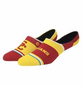 STANCE USC TROJANS NO-SHOW SOCKS ATHLETIC CARDINAL & GOLD MENS LARGE 9-12 NWT