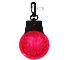 LED Reflektor Blinklicht Rund mit Karabinerhaken