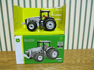 John Deere 8400 R With Front & Rear Duals 100 Years Silver Edition By Ertl