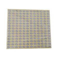 900pcs Oval QC PASSED Stickers coated paper adhesive sticker white