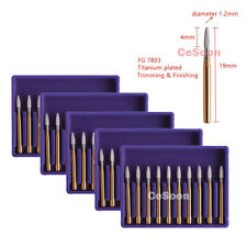 5pack Dental Carbide Tungsten Burs Mani Burr Drills Fg7803 High Speed Handpiece