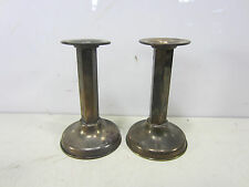 2 Vintage Church Style Brass Candlesticks w/Metal Weighted on Bottom