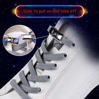 Elastic Magnetic Locking No Tie Shoe laces Kids Unisex Sneakers Shoe Laces n