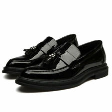 Mens Shiny Patent Leather Pointed toe Tassel British style Oxfords Slip on Shoes