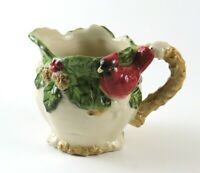 Vintage Cracker Barrel Holiday Garden Ceramic Creamer