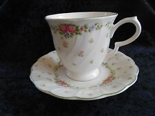 Nikko China Teacup & Saucer, Garland Pattern, Discontinued