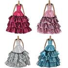 Girl set Barbie doll clothes outfit costume dolls party dress 4 colours new BC24