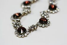 Ruby Crystal Stone Statement Necklace 14'' Length