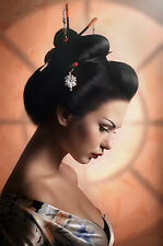 STUNNING JAPANESE GEISHA CANVAS #798 QUALITY ORIENTAL WALL HANGING PICTURE ART
