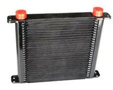 "PWR Engine Oil Cooler - Plate & Fin 280 x 256 x 37mm (28 Row) with 9"" SPAL fan m"