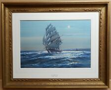 Clipper off Beachy Head, Watercolour by Wilfred Knox, Listed Artist, dated 1919