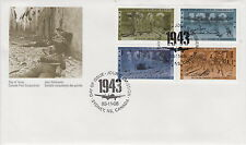 CANADA #1503-1506 43¢ SECOND WORLD WAR 1943 FIRST DAY COVER - B