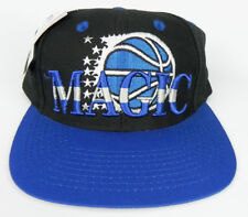 ORLANDO MAGIC NBA VINTAGE SNAPBACK RETRO 2-TONE CAP HAT NEW! BLACK/ROYAL LOGO 7