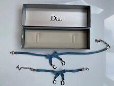 Vintage Christian Dior Y2K CD Bow Choker Logo Necklace & Bracelet Set In Box
