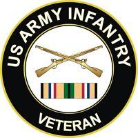 "Army Infantry Gulf War / Desert Storm Veteran 5.5"" Decal / Sticker"