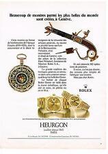 PUBLICITE ADVERTISING  1983  ROLEX montres