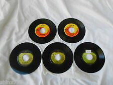 "5 7"" SINGLES-CILLA BLACK-MARY HOPKINS-BILLY PRESTON-BADFINGER-BEATLES-APPLE-RARE"