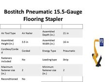 Bostich hardwood flooring stapler