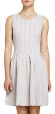 "$238 BCBG LIGHT ASH ""CYDNEY"" CABLE SLEEVELESS WOOL SWEATER DRESS NWT L"