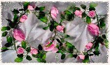 PINK Rose Garland Silk Wedding Flowers Arch Gazebo Decoration Vines Centerpieces