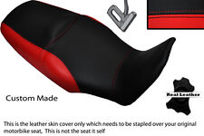 BLACK &BRIGHT RED CUSTOM FITS HONDA XL 1000 V VARADERO 08-13 DUAL SEAT COVER