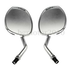 2x Motorcycle Motorbike 10mm Chrome Rear View Mirrors For Honda Kawasaki Suzuki