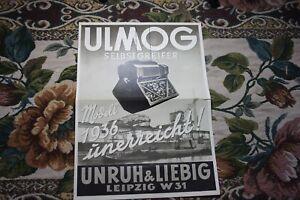 1935 Reklame Werbung 1 / Unruh & Liebig Leipzig Plagwitz