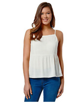 Lily Loves Cami 14 Cream Light Textured Viscose Spaghetti Strap Top