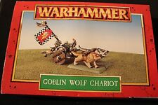 Games Workshop Warhammer Orcs and Goblins Wolf Chariot 1990s NIB Metal Figure GW