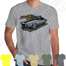 Silver Chevrolet Camaro Z28 SS RS ss350 T-shirt 100% Cotton 7 colours to choose