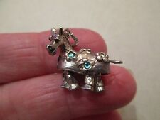 VINTAGE SILVER CHARM RARE NUVO MOVING ARTICULATED PANTOMINE HORSE FOB PENDANT UK