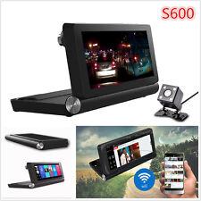 7'' HD Auto DVR Video Recorder Dual Camera Dash Cam+GPS Navigation +Backup Image