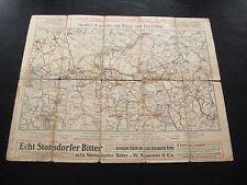 alte Karte Staubes Wegekarte vom Riesen und Iser Gebirge Echt Stonsdorfer Bitter