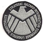 """Avengers/Agents of SHIELD TV Silver/Black 3"""" Logo Patch- FREE S&H (ASPA-005)"""