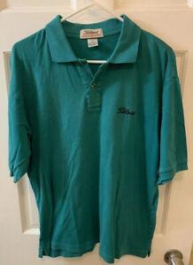 Titleist By Corbin Men L Large Golf Polo Shirt Mint Green Short Sleeve Pro
