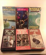 Vhs Collector Videos Fishing Hunting Outdoor Sports Many To Choose From You Pick