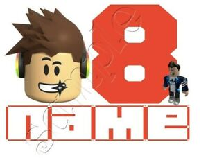IRON TRANSFER PERSONALISED BIRTHDAY ANY NAME/NUMBER ROBLOX character 16x11cm