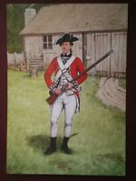 POSTCARD THE SCOTS GUARDS - PRIVATE 3RD FOOT GUARDS AMERICA 1777