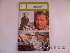 CARTE FICHE CINEMA BRUCE CABOT période 1942 - 1971