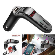 Bluetooth2.1 Car Kit Handsfree Fm Transmitter Radio Mp3 Player Usb Charger & Aux