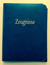 Zeugnismappe Mappen Schreibmappe Ringbuch Zeugnismappen blau