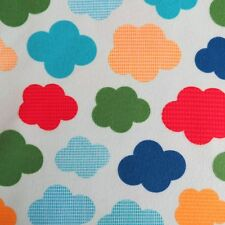 FQ Urban Flotologie Rainbow Clouds Unisex FLANNEL fabric by Robert Kaufman