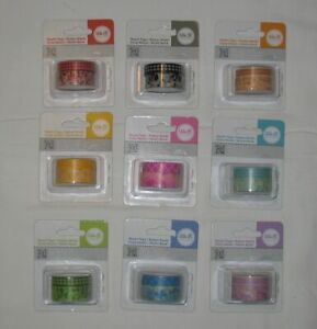 We R Memory Keepers  Washi Tape Lot of 18 Rolls - 9 New Packages