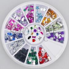 Nail Rhinestones Gems Art Diamante Fashion Glitter Jewels Multi Colour Shapes