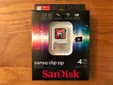 SanDisk Sansa Clip Zip 4GB MP3 Player w/ MicroSDHC Card Slot (White) - New