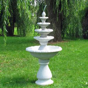 "Brunnen ""Fontäne"" 5-stöckig, Skulptur, Springbrunnen, Wasserspiel, winterfest"