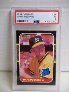 1987 Donruss Mark McGwire RC PSA NM 7 Baseball Card #46 MLB Oakland Athletics