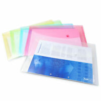 Rapesco Popper Wallet – A4 Pastel Transparent Colours – Pack of 5 - 0696