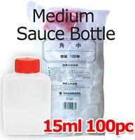 100 x 15ml Plastic Disposable Medium Soy Sauce Dressing Sauce Container Bottle